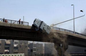 Egypt police truck