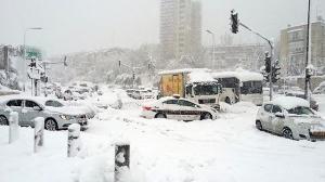 Jerusalem snow jam 2013