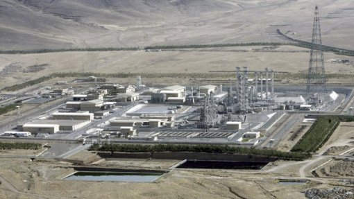 FILE- In this Saturday, Aug. 26, 2006 file photo, an aerial view of a heavy-water production plant in the central Iranian town of Arak.  (AP Photo/ ISNA, Arash Khamoushi, File) The Associated Press
