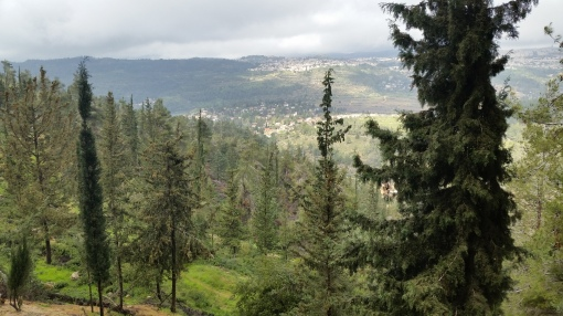 View from Yad Vashem