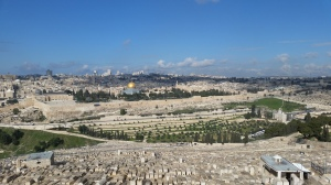 Normal View of Temple Mount from Mt of Olives