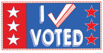 I Voted With Stars Clipart