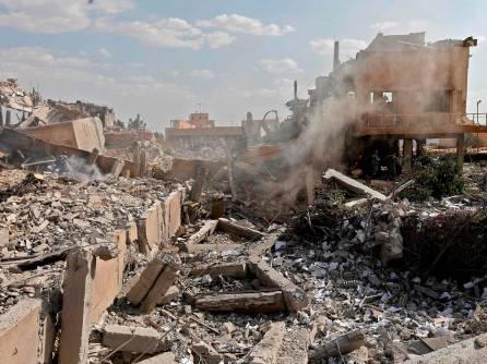 Damascus syria-air-strike-damage-5 - April 2018