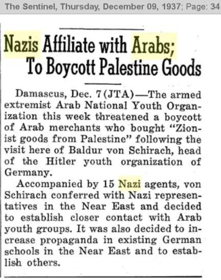 Nazi Arabs boycott