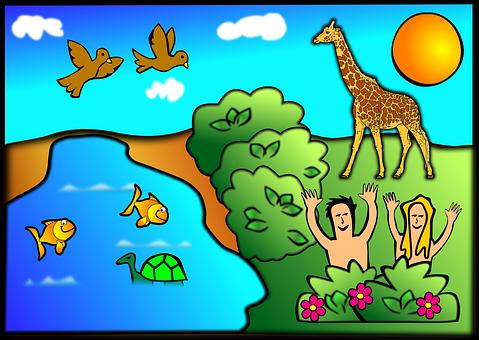 Adam & Eve creation-47473__340