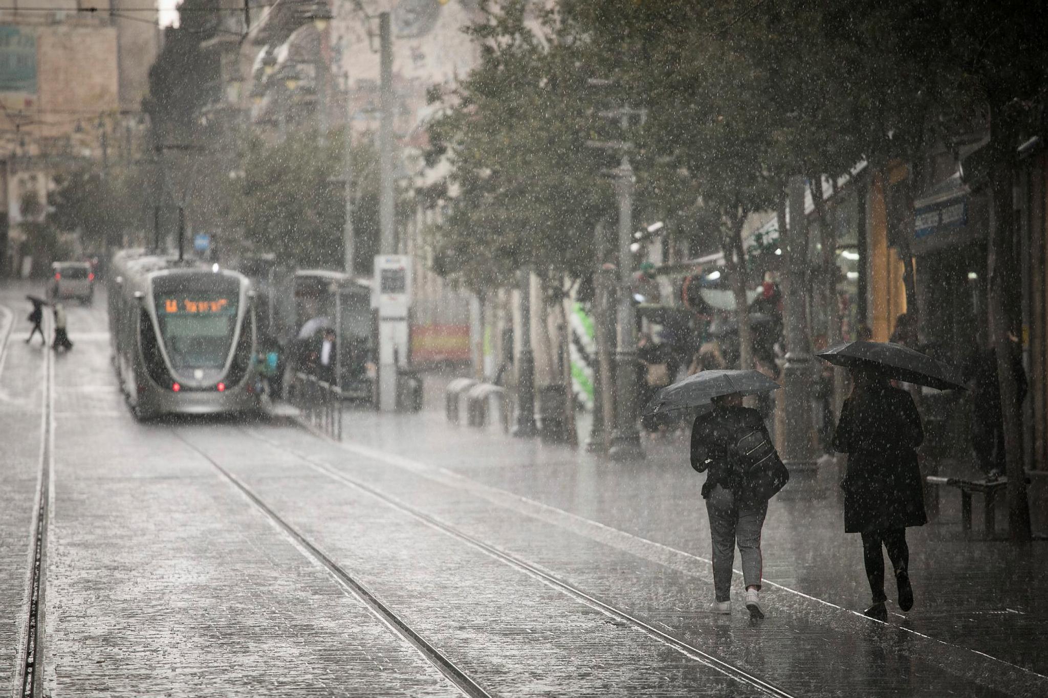 Israel Jaffa_rain